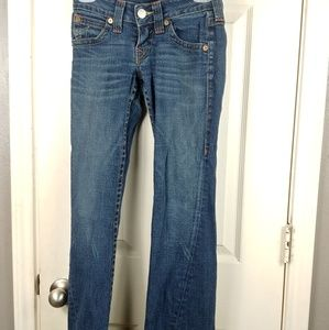 TRUE RELIGION JOEY WOMEN'S JEANS SIZE 25 BOOTCUT